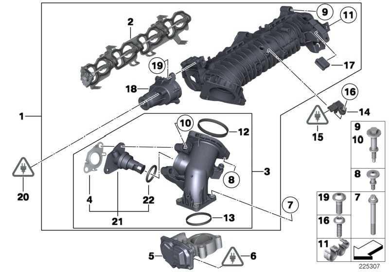 Ansaugleitung mit Klappensteuerung  1er 2er 3er 4er 5er X1 X3 X5  (11617807991)