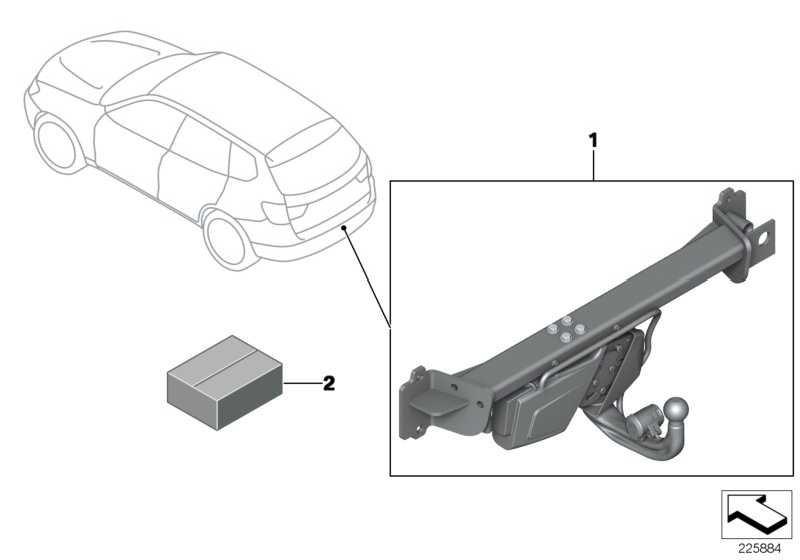 Anhängerkupplung elektrisch schwenkbar  X3 X4  (71606869270)