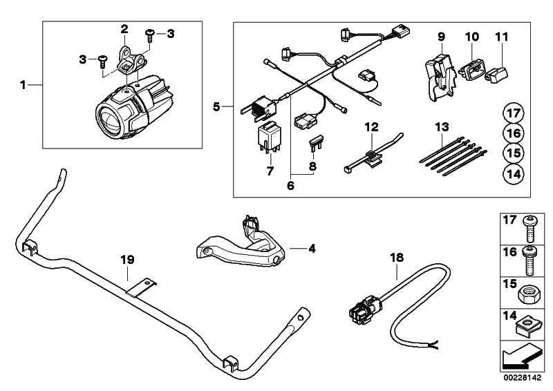Satz Anbauteile Zusatzscheinwerfer   (63177709686)