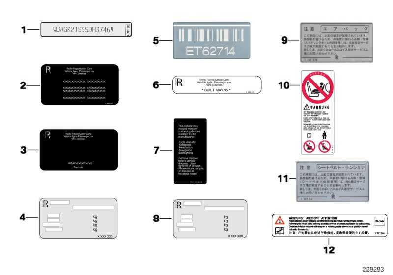 Hinweisschild Beifahrerairbag DEUTSCH 1er 3er 5er 6er 7er 8er X1 X3 X5 X6 Z4 Z8 MINI  (71239199610)