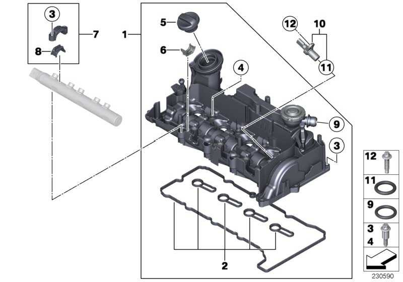 Dichtungssatz Zylinderkopfhaube  1er 2er 3er 4er 5er X1 X3 X5 MINI  (11128511814)