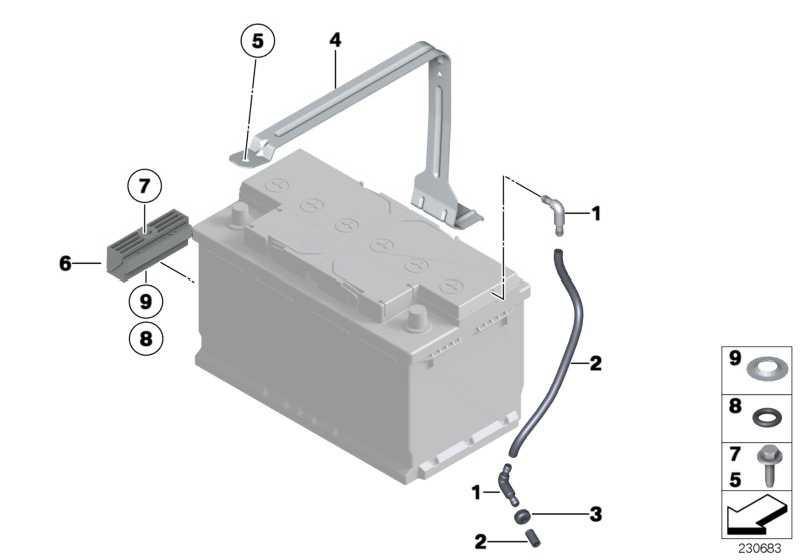 Batteriehalterung  5er 6er  (61217585707)