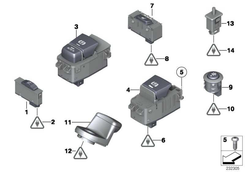 Schalter Parkbremse/Auto-Hold  7er 5er X5 X6  (61316822520)