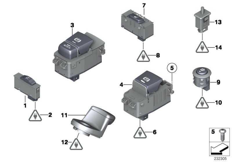 Schalter Parkbremse/Auto-Hold  5er 7er X5 X6  (61319385028)