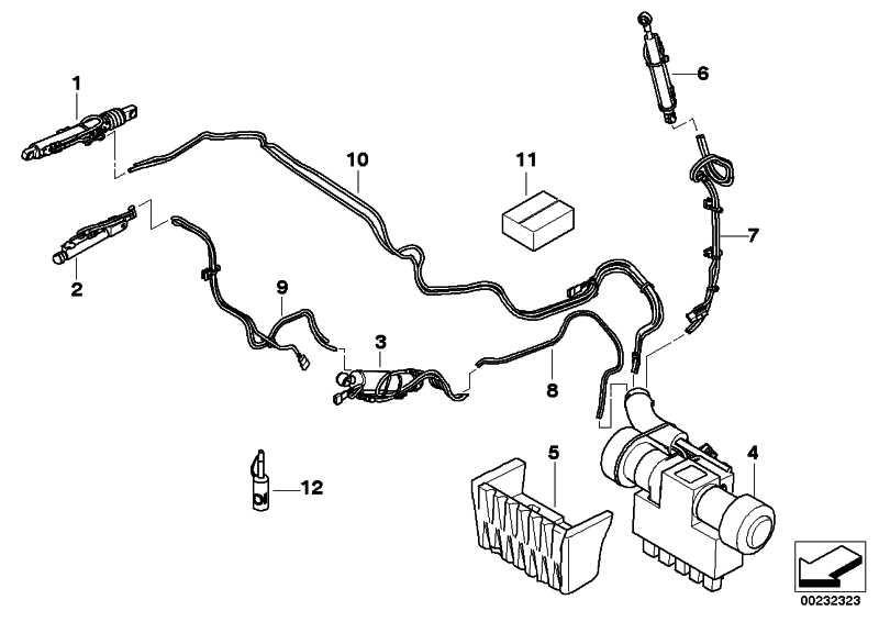 Hydraulikzylinder Dachschale links  3er 4er  (54377128781)