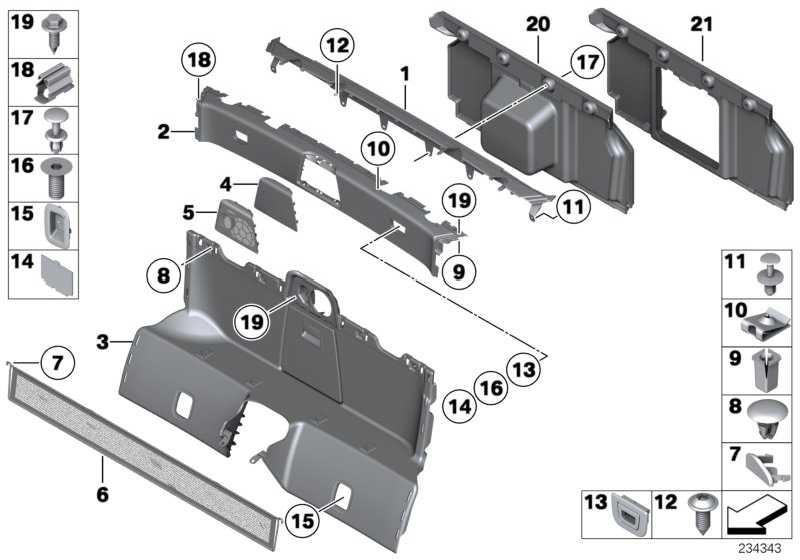 Verkleidung Trennwand Gepäckraum  Z4  (51477341670)