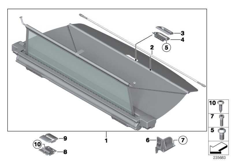 Trennnetz / Sichtschutz Gepäckraum SCHWARZ X3  (51477335263)