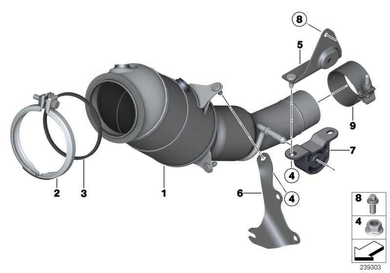 Halter motornaher Katalysator  1er 2er 3er 4er 5er X1 X3 X4 X5 X6  (18307606138)