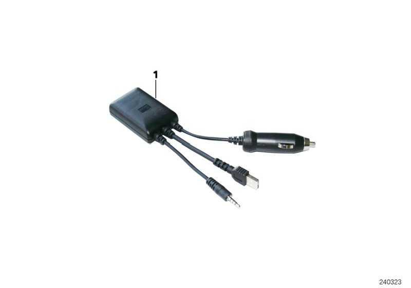 Ladeadapter Apple iPod / iPhone  1er 3er 5er 6er 7er X1 X5 X6 Z4 MINI  (61122167663)