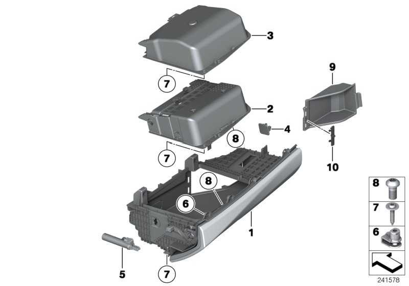 Handschuhkasten ZIMTBRAUN       5er  (51169205980)
