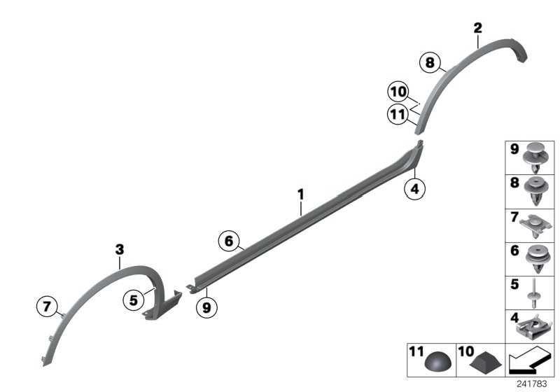 Blende Radlauf vorne links  X3  (51777210081)