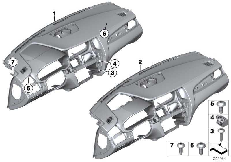 Verkleidung Instrumententafel SCHWARZ X3 X4  (51459311544)