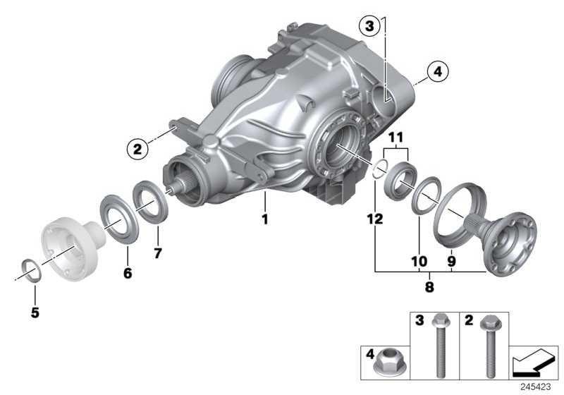 Austausch Hinterachsgetriebe mit Sperre I=3,15 1er 3er  (33122283321)