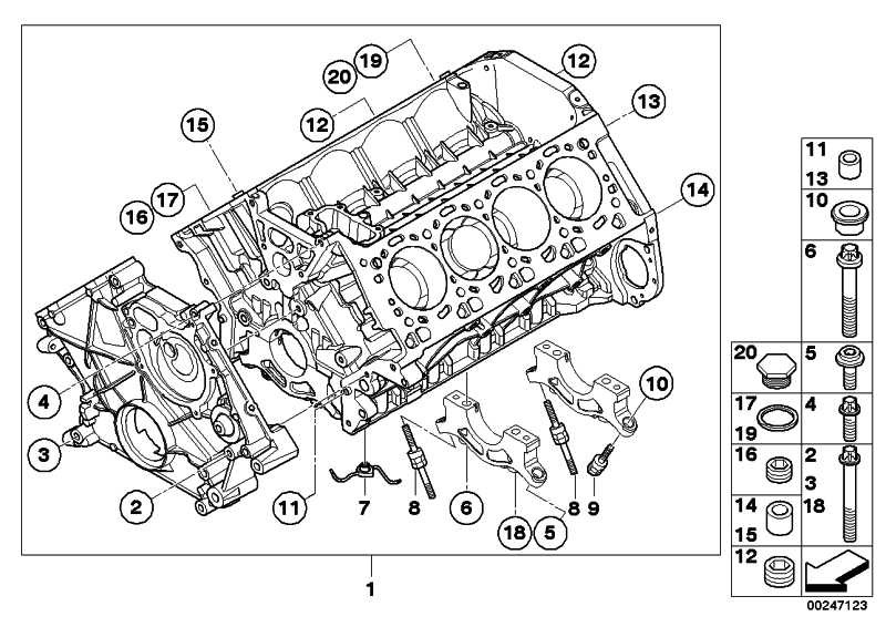 Zylinder-Kurbelgehäuse mit Kolben  5er 6er 7er X5 X6  (11112296651)