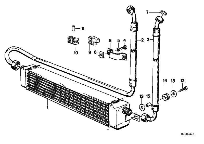 Ölkühlerleitung  3er  (17222225805)