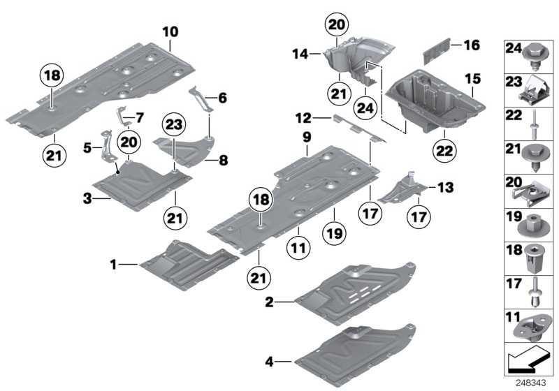 Unterbodenverkleidung rechts  3er X1  (51757059392)