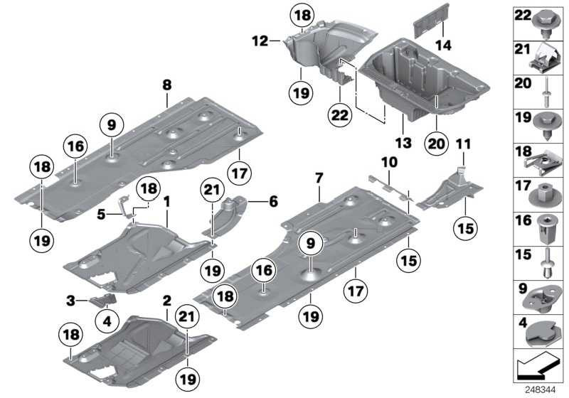 Unterbodenverkleidung Mitte hinten  3er X1  (51757171567)