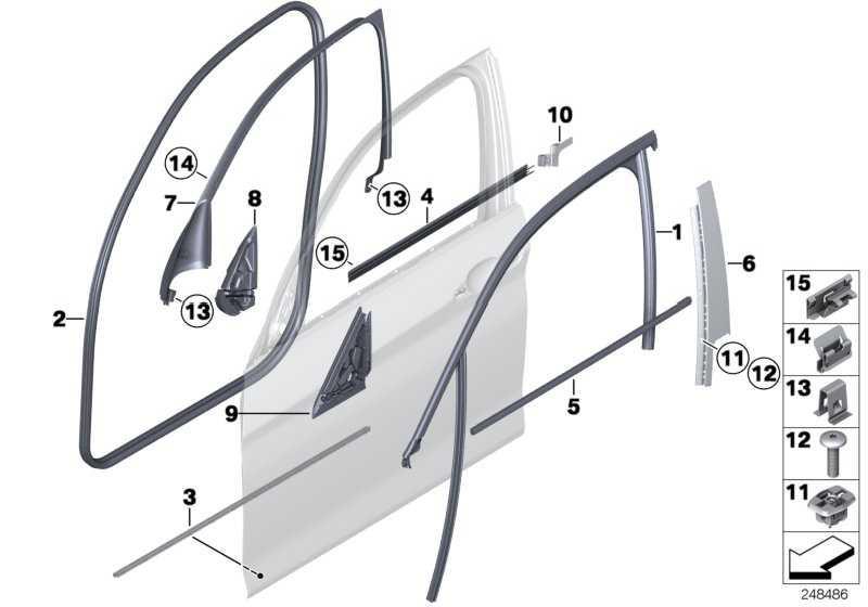 Abdeckung Fensterrahmen vorne links  1er  (51337241201)