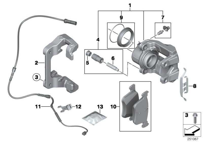 Reparatursatz Bremsbeläge asbestfrei  X3  (34106859182)