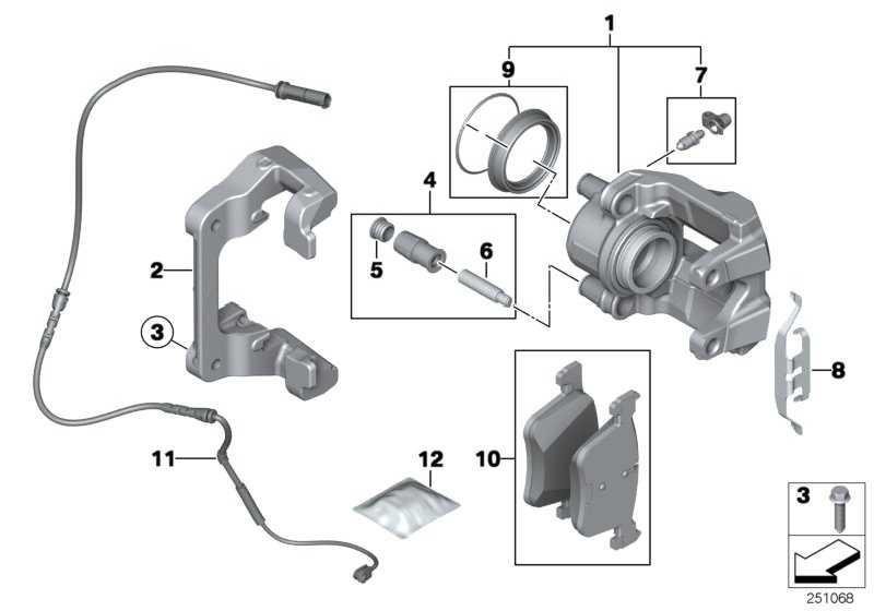Reparatursatz Bremsbeläge asbestfrei  1er 3er  (34106859181)