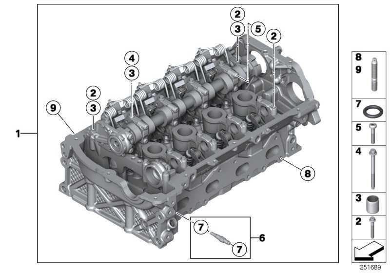 Zylinderkopf mit Einlass-Ventiltrieb  1er 3er  (11127642264)