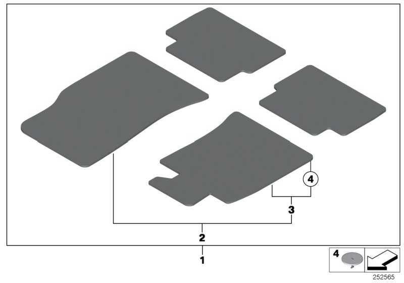 Satz Fussmatten Velours GP2 CHILIROT MINI  (51477330808)