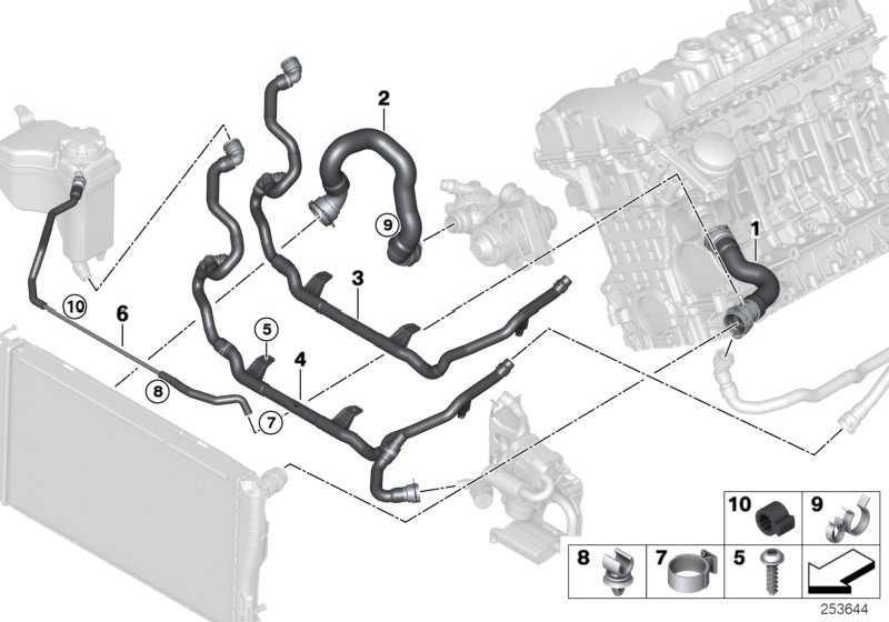 Leitung Heizungsrücklauf-Thermostat-  3er  (17127544557)