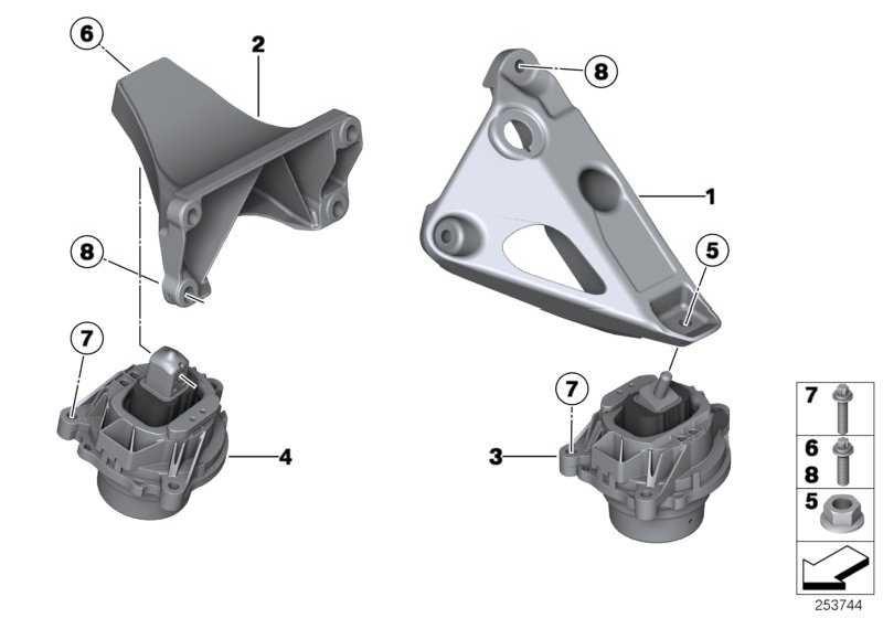 Motortragbock rechts  X3 X4  (22116784830)