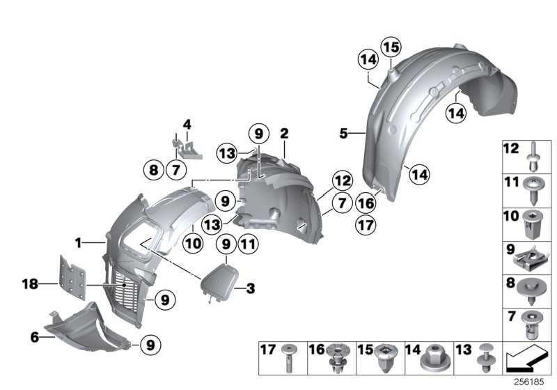 Zwischenstück Motorraumabschirmung  6er  (51758056414)