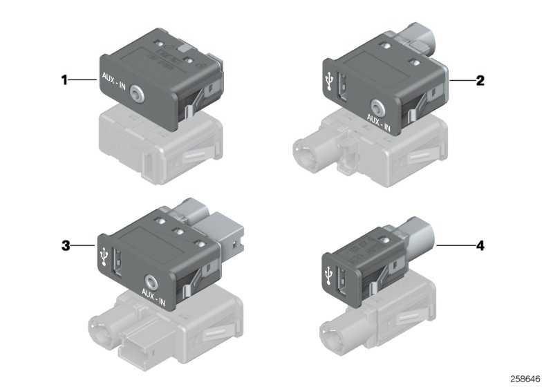 USB/AUX-IN Buchse  X1  (84109241331)