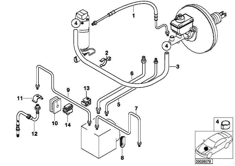 Rohrleitung M10/M12-963MM   5er Z3  (34326755308)