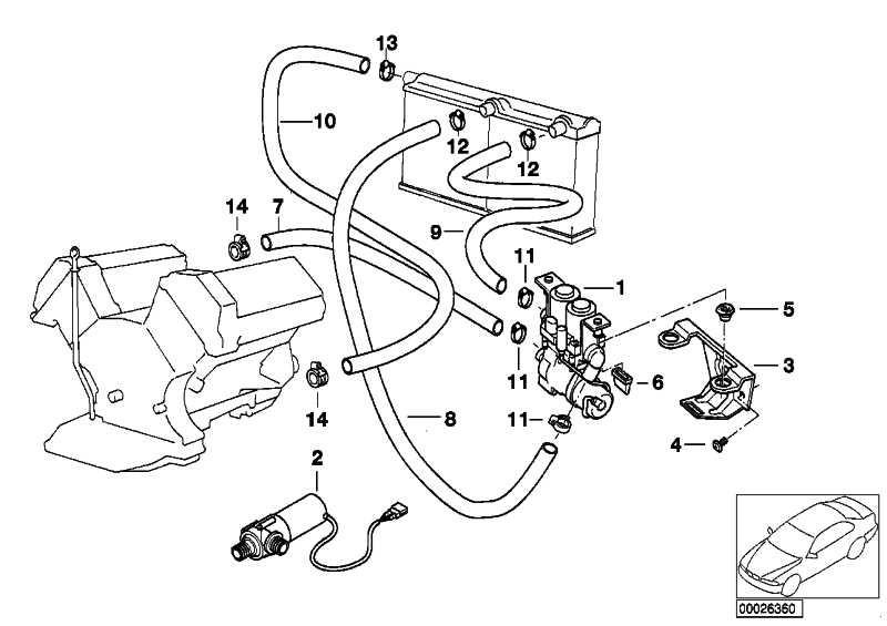 Schlauch Heizkörper-Motorrücklauf  7er  (64218375875)
