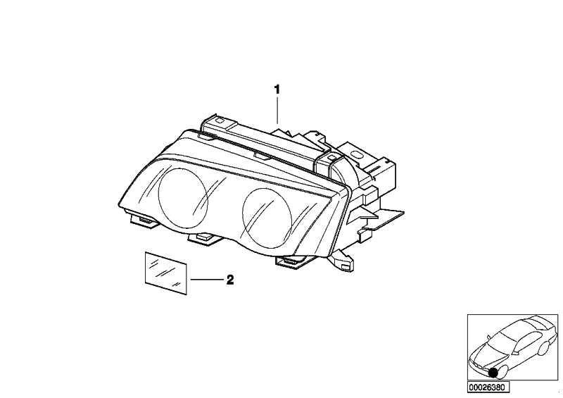 Scheinwerfer Bi-Xenonlicht rechts  3er  (63127165820)