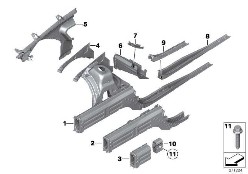 Stützträger Radhaus vorne links  X1  (41002993117)