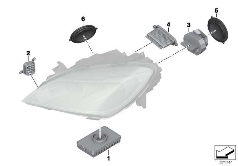 LED Hauplichtmodul  6er X5 X6  (63117268672)