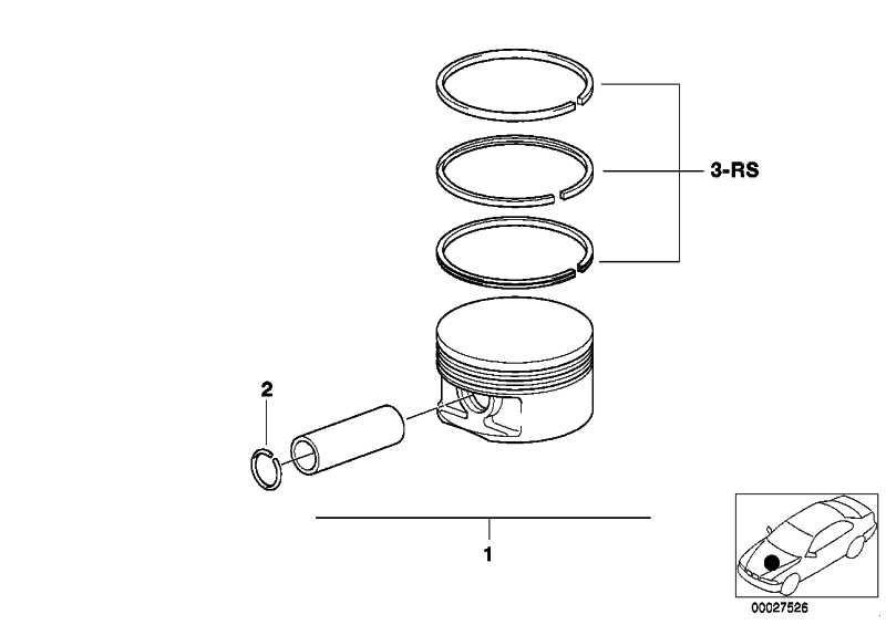 Reparatursatz Kolbenringe (0)             3er 5er 6er  (11257840940)