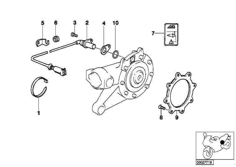 Drehzahlsensor ABS hinten   (34327670028)