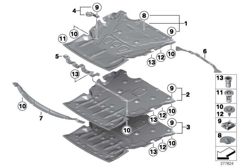 Abstützung Motorraumabschirmung hinten  1er 3er  (51757262626)