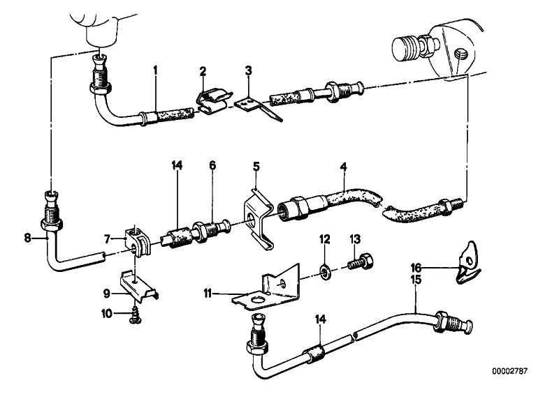Rohrleitung M10/M10-283MM    3er 5er 7er 8er Z1  (34326755328)