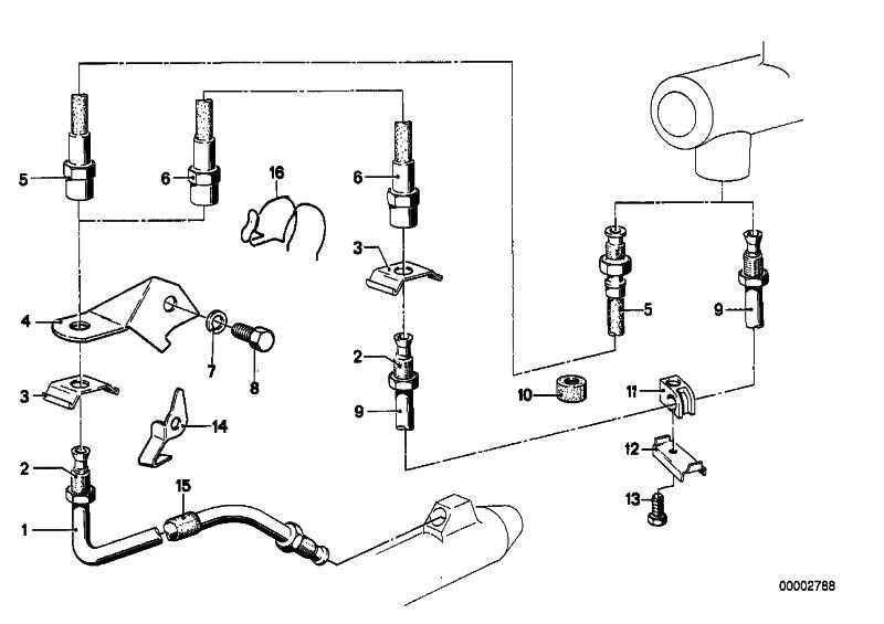 Rohrleitung M10/M10-360MM    3er 5er 6er 7er 8er Z1  (34326755565)
