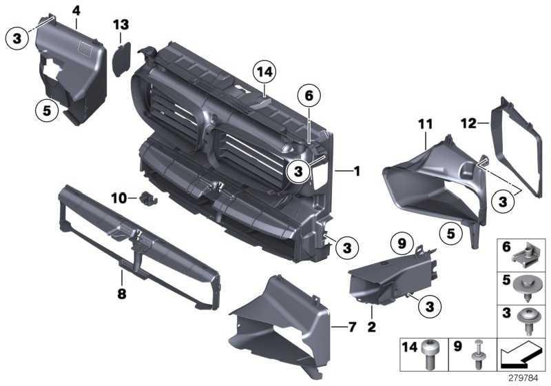 Luftführung Motorölkühler vorne links  5er  (51747200789)