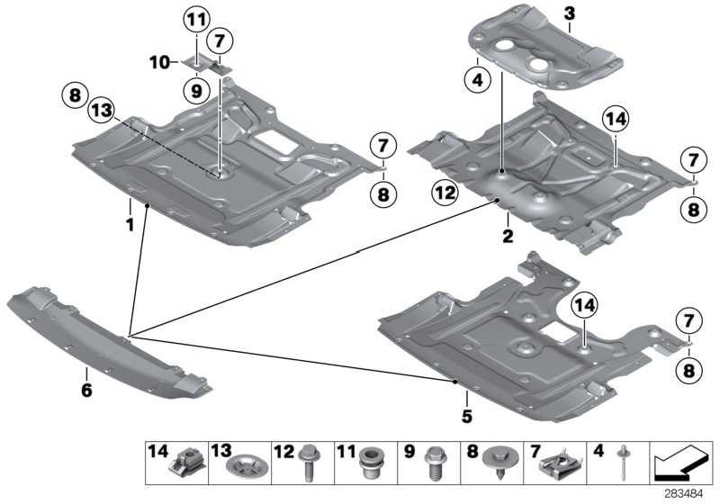 M Motorraumabschirmung  5er 7er  (51758035943)