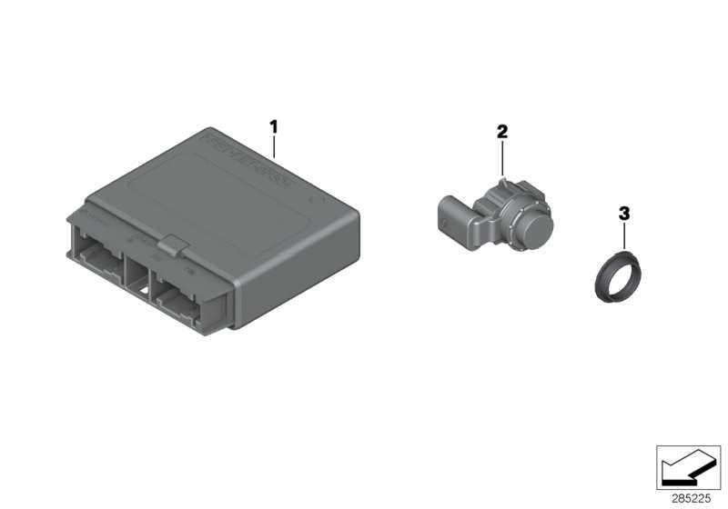 Ultraschallwandler MINERALGRAU     1er 3er 4er  (66209261631)