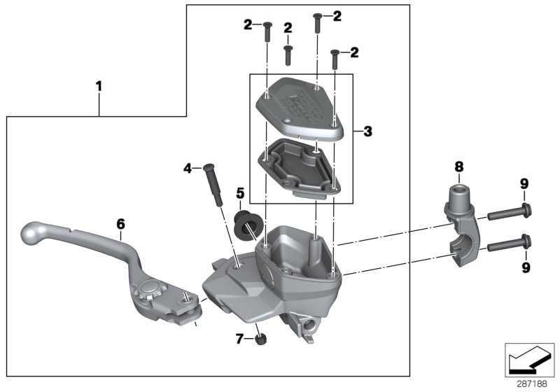 Satz Deckel Ausgleichsbehälter Bremse   (32728533738)