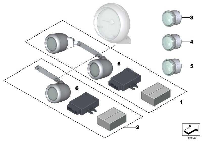 Nachrüstsatz Zusatzinstrumente 2 MINI  (62112149355)