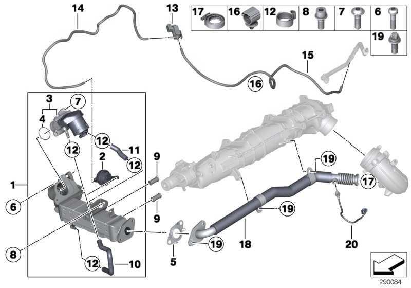 Schlauch Kühler Abgasrückführung-  1er 2er 3er 4er 5er 6er 7er X1 X3 X4 X5 X6  (11718507308)