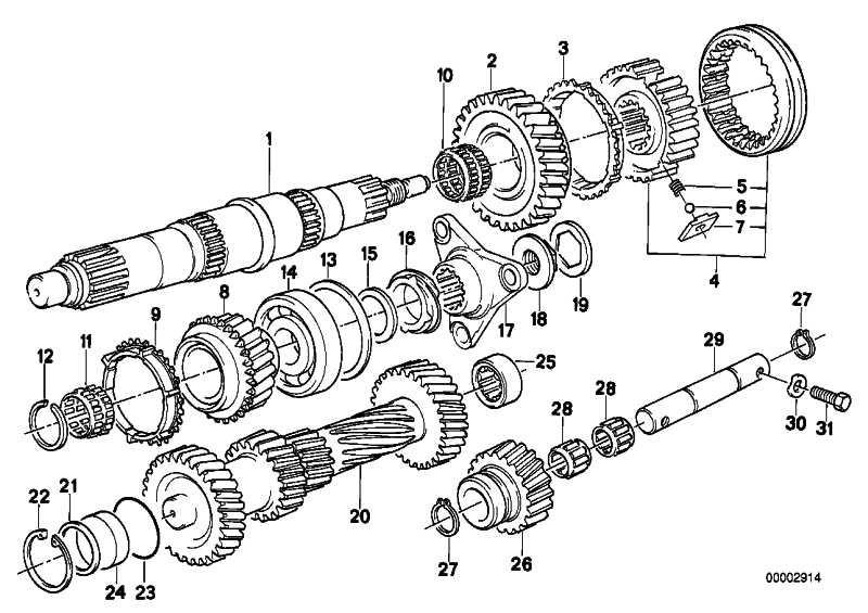 Rollenbuchse 44X25X19,65     3er 5er 6er 7er Z1 Z3 Z4  (23121282566)