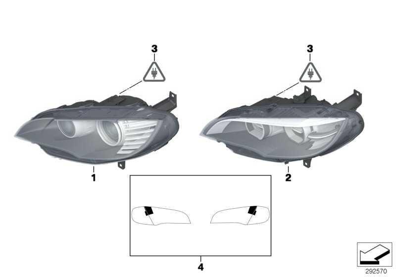 Scheinwerfer Bi-Xenonlicht links  X5 X6  (63117287009)