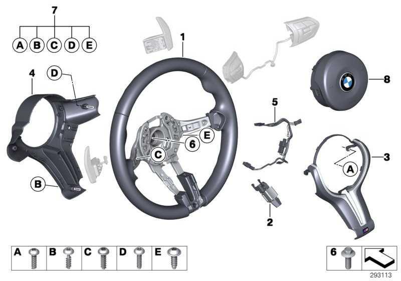 Airbagmodul Fahrerseite SCHWARZ         5er 6er  (32307845795)