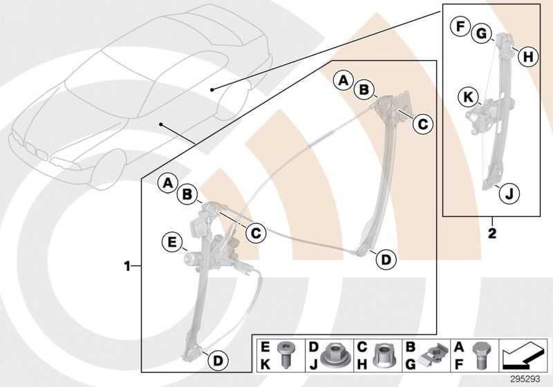 Satz Anbauteile Fensterheber hinten VALUE LINE      3er  (51102311936)